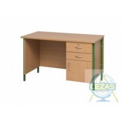 Stół demonstracyjny z listwą zasilającą z blatem HPL 28 mm