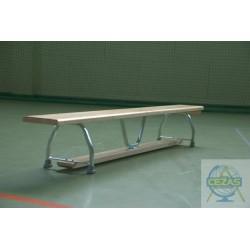 Ławka gimnastyczna, nogi metalowe