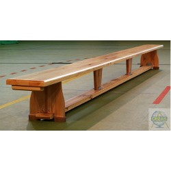 Ławka gimnastyczna, nogi drewniane