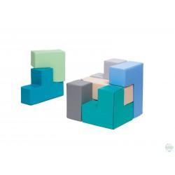 Kostka składana kolorowa
