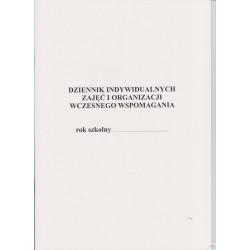 Dziennik indywidualnych zajęć i organizacji wczesnego wspomagania