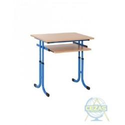 Stół szkolny regulowany ZBYSZEK z wysuwaną półką